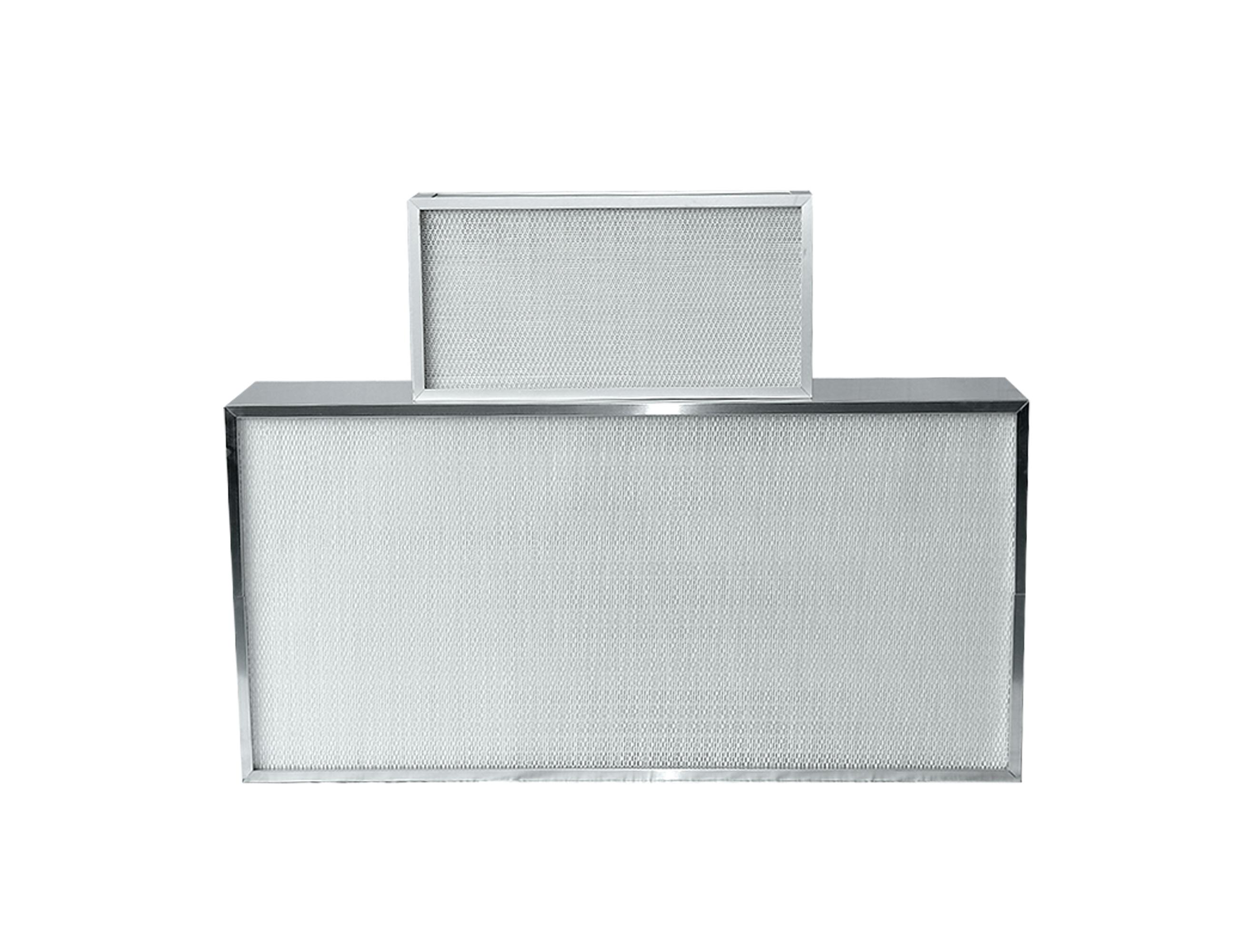 High temperature resistant mini pleated HEPA filter
