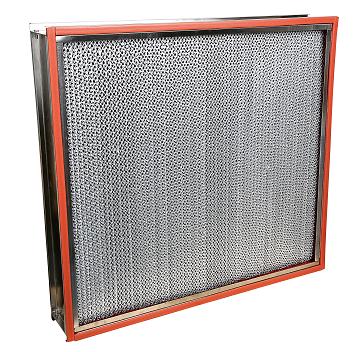 High temperature resistance deep pleated HEPA filter