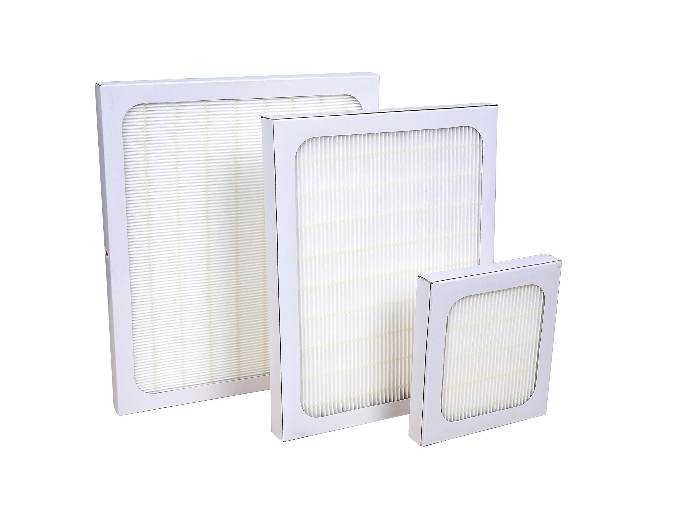 Paper frame HEPA Filter
