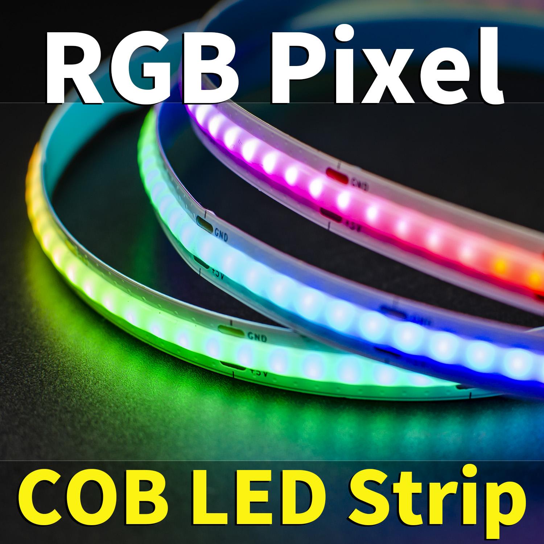 Tira de LED COB RGB digital --- Control de píxeles
