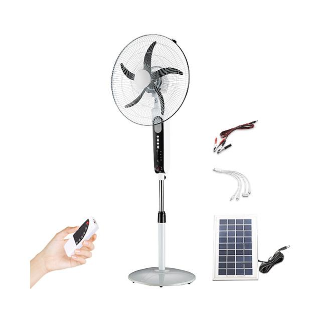 Rechargeable solar fan standing 16