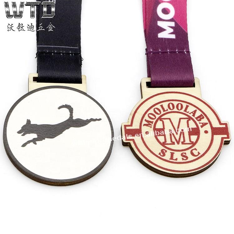 Wood Carved Race Medal