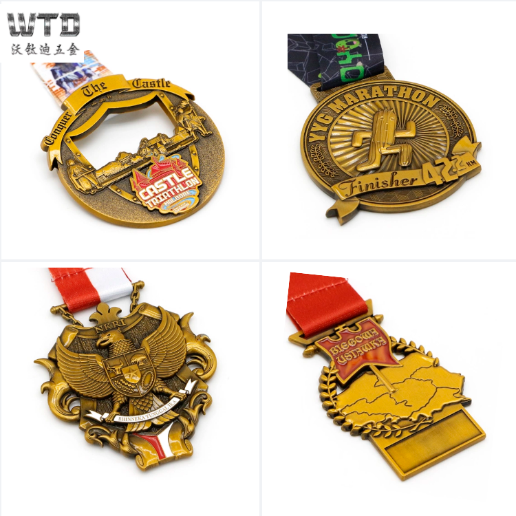 customized round 3d running medals