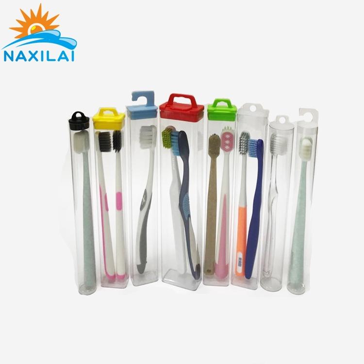 Naxilai Toothbrush PVC Transparent Packaging Cylinder