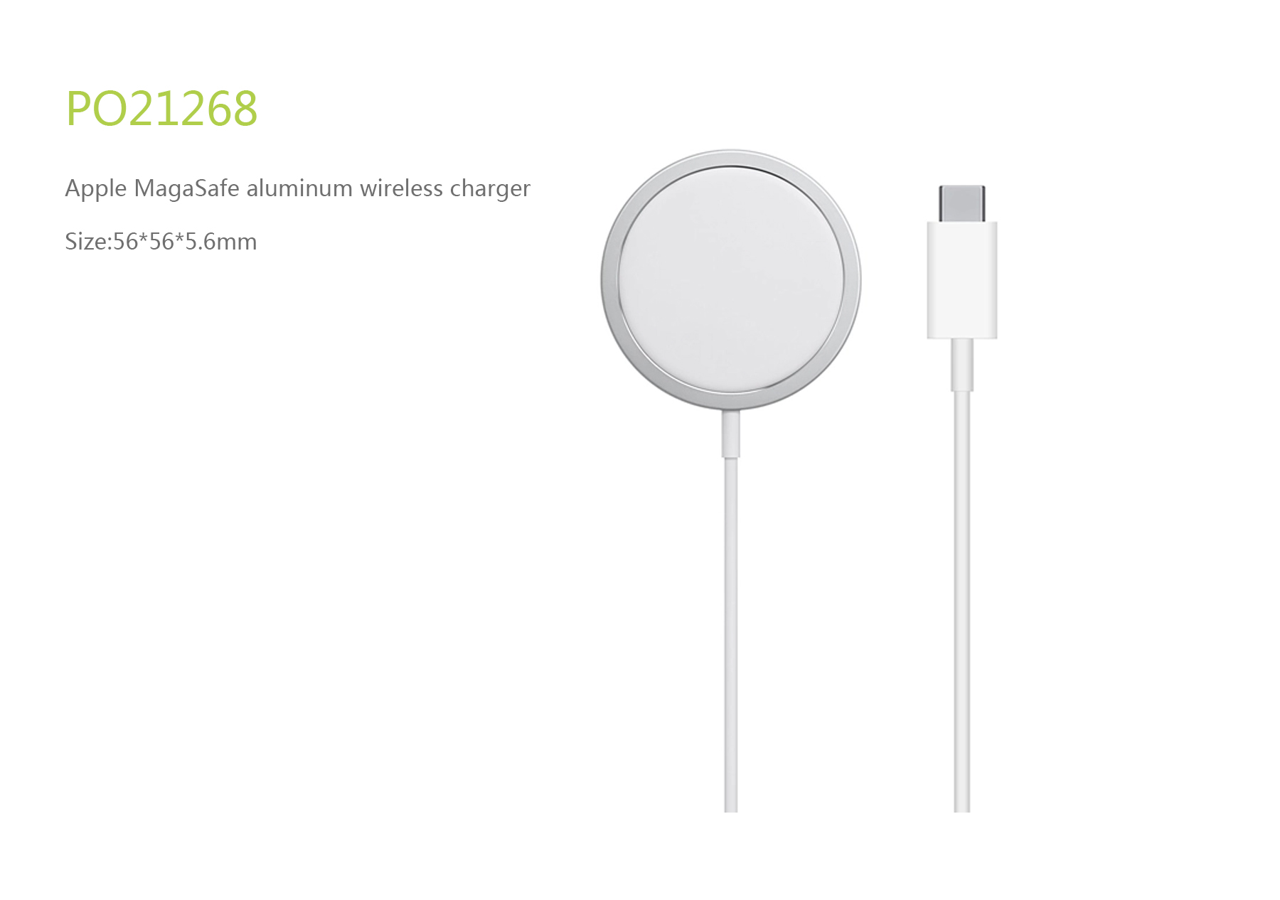 Apple Magsafe aluminum wireless charger