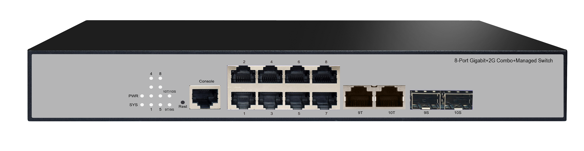 8GE+2G Combo+1Console Ethernet Managed Switch