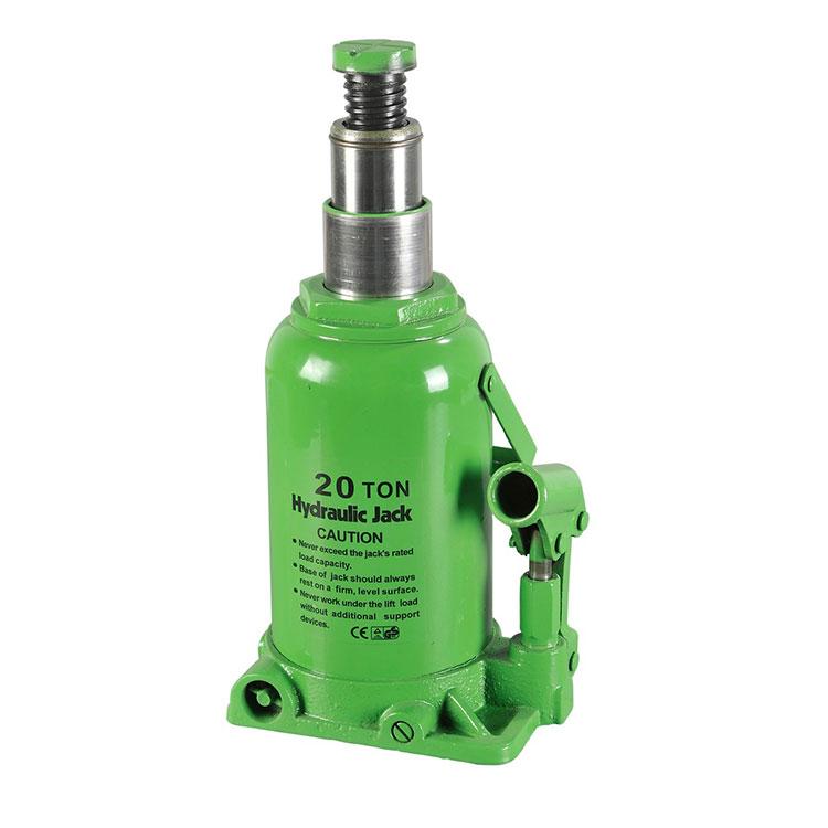 20T Hi-Range Double Ram Bottle Hydraulic Jack For Car