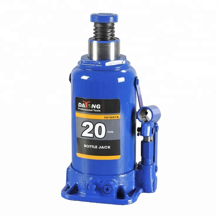 Adjustable Props Hydraulic Bottle Jack 20 Ton With Safety Valve GS CE TUV For Workshop