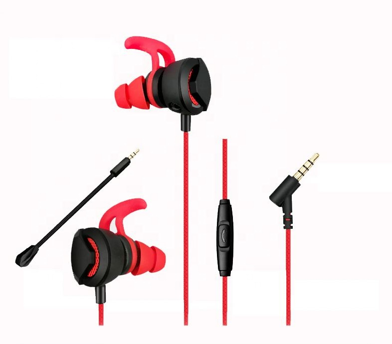 Gaming Headphone With Retractable Long Microphone Stereo Game Headset 3.5mm Wired Earphone