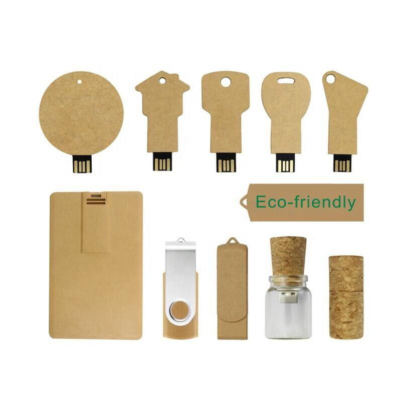 Logo Branding Eco Friendly Wheat Straw USB Flash Drive Promotional Electronic gift 4GB 8GB 16GB
