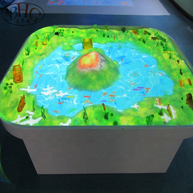 amusement park interactive floor kid games  AR sandbox products interactive magic sand table floor game