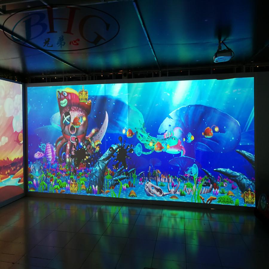 高品质互动投影地板系统儿童室内游乐场设备与互动绘画游戏