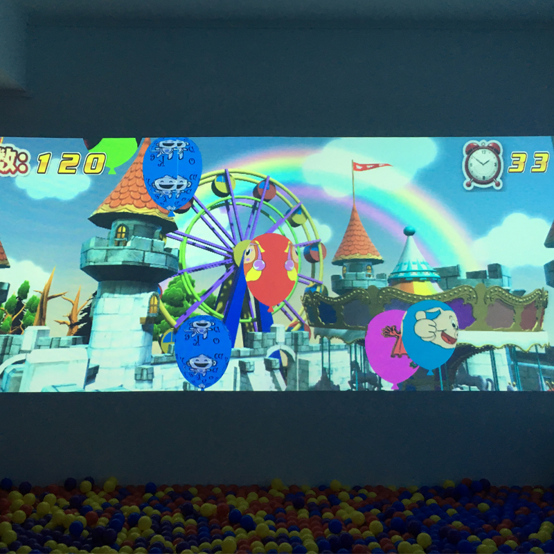 New design advertising customized AR interactive projection wall pitch ball games for amusement park
