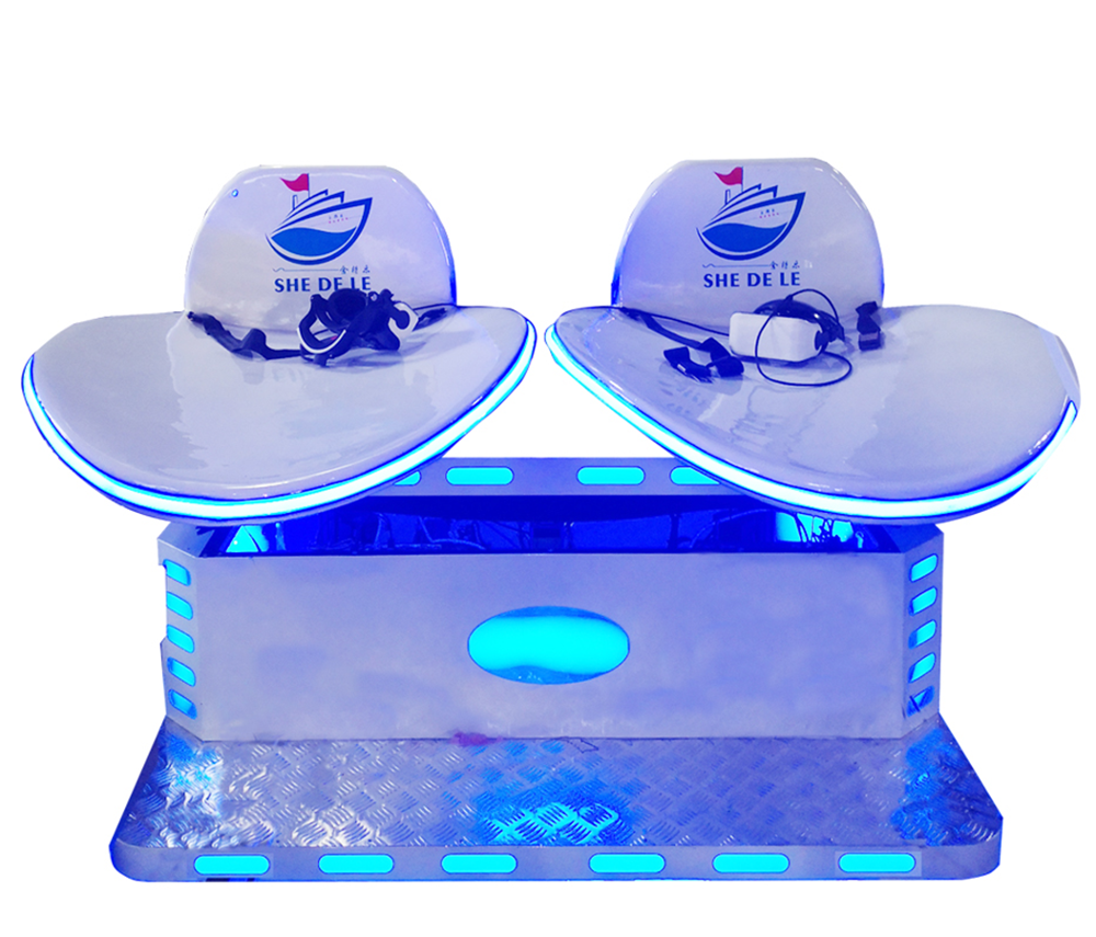 2021 newest 2 seats 360 degree vr slide shooting simulator  and skiing game machine for amusement park