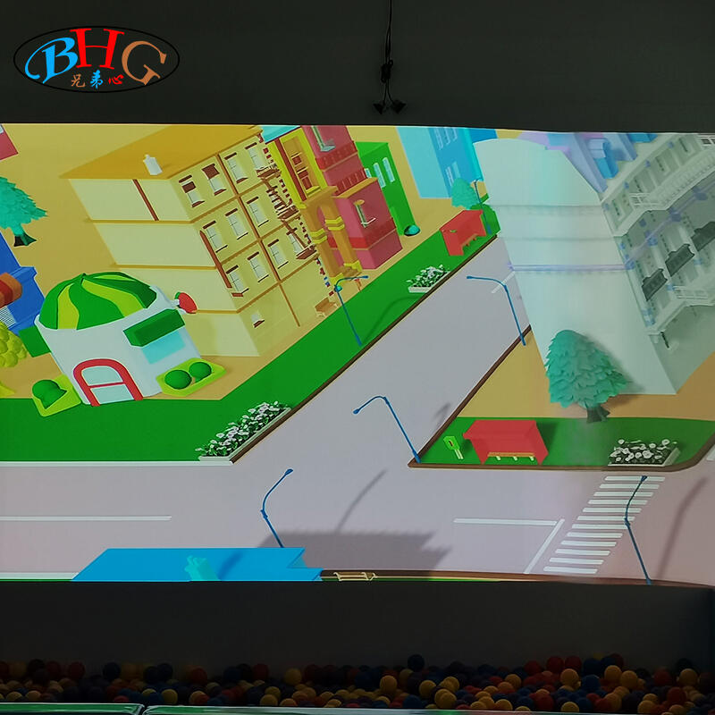 2021 new magic 3d big screen indoor interactive projection racing car competition game