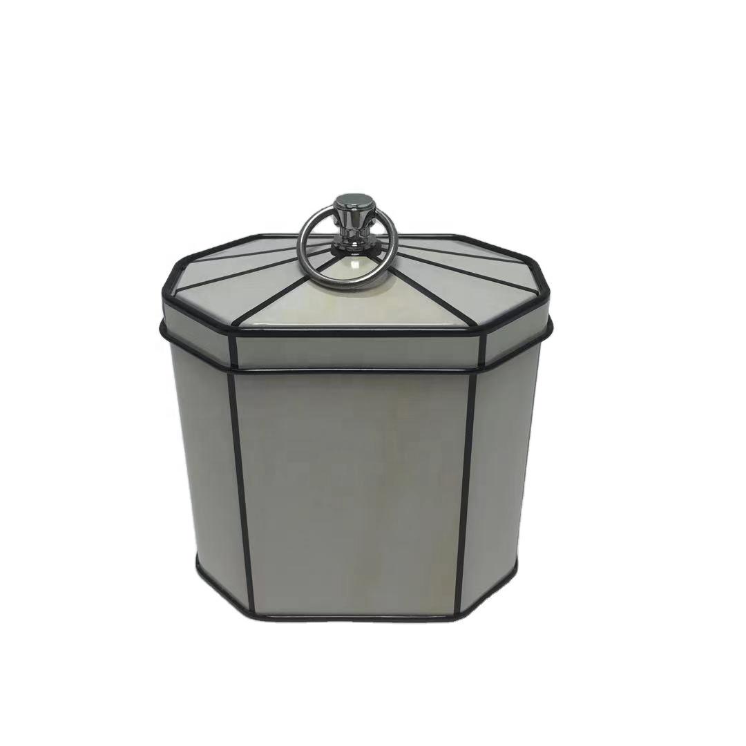 luxury gift tin box jewelry tin case colored tea /sweet /chocolate tin can packaging