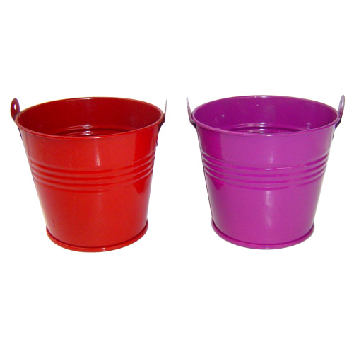 hot sale ice metal tin bucket for beer with handle for candy tin and Popcorn small tin