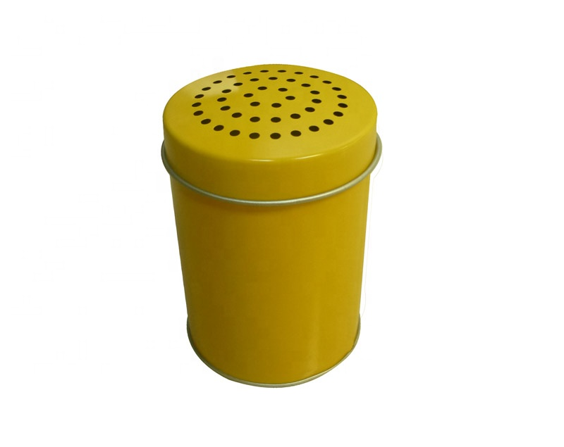 Popular Mannual Kitchen Tin Box Packing With Small Holes Pepper/Salt/Sugar/Spice Metal Box Small Storage Box