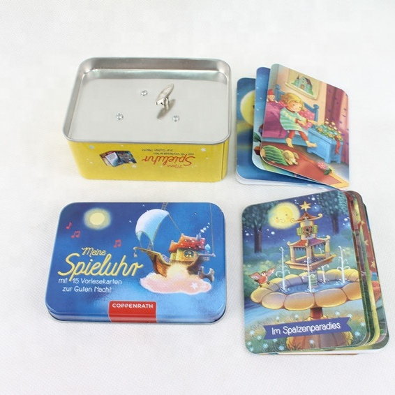 Thanksgiving Metal Boxes Gift Metal Can With Story Cards and Music Box