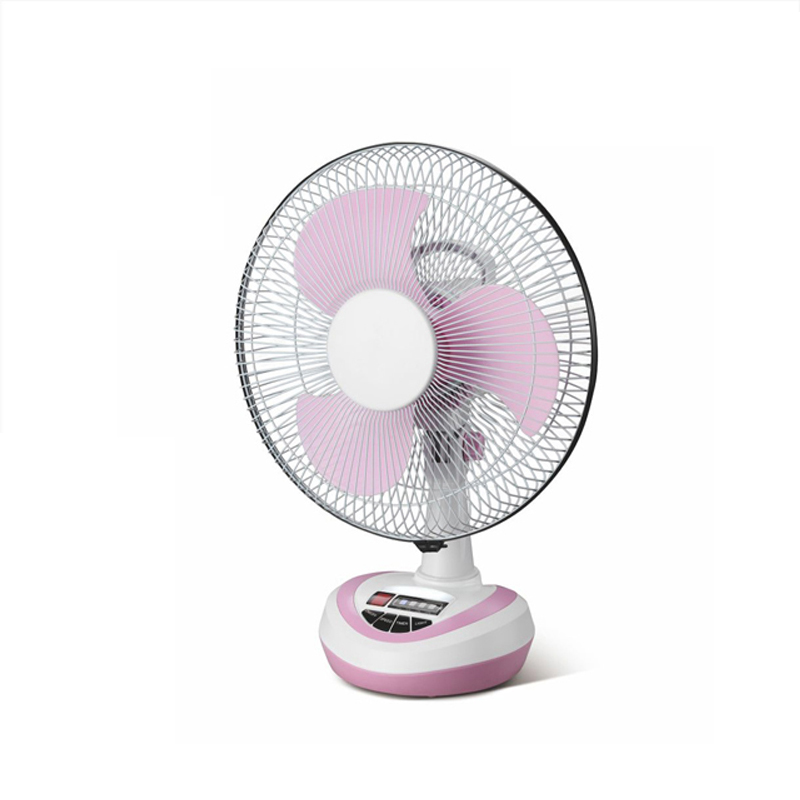 Portable rechargeable 12 inch box table fan