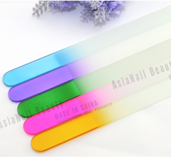 Professional OEM welcome Custom Printed Crystal Nail File Colorful Double