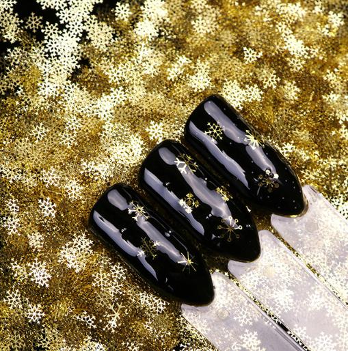 60Pcs/Jar nail 3D decals decoration nail art DIY sequins Christmas snowflakes slice