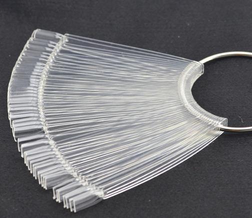 Asianail 48Pcs Nail Acrylic set Fan Shaped nail tips for gel polish display