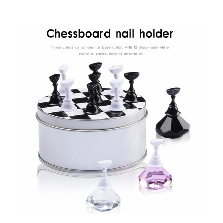 Magnetic Nail Holder Practice Training Display Stand TipsHolder Board Salon Tool DIY NC052