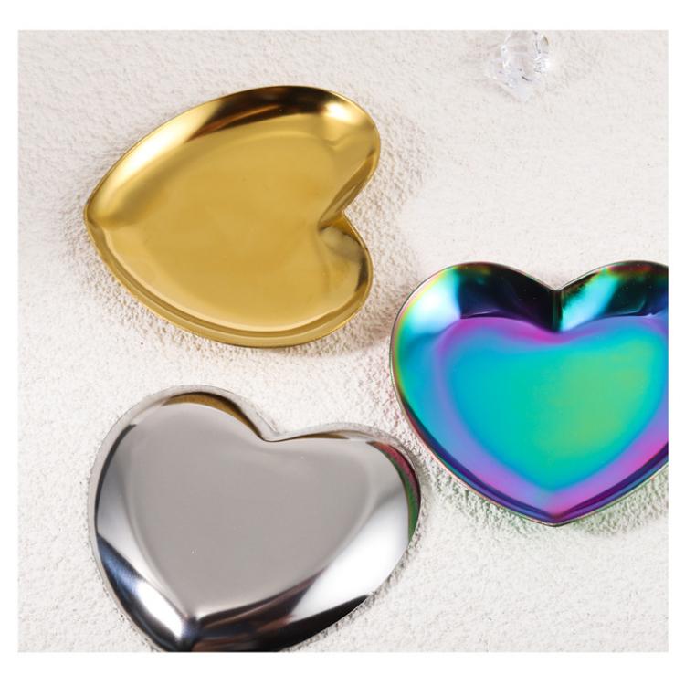 Nail art stainless steel heart-shaped palette
