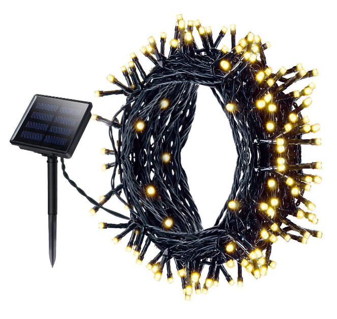 Decorative waterproof IP44 new arrival colorful garden 12 meters 100 LED solar string light