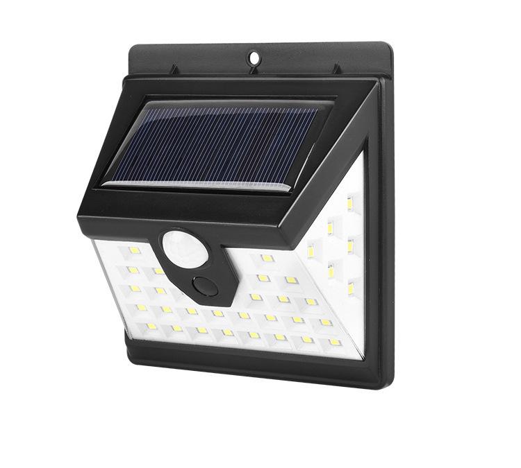 Street light lamp 40 LED waterproof IP65 motion sensor solar outdoor wall lights