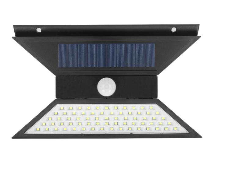 Premium retractable motion sensor adjustable angle 67 LED waterproof IP65 solar wall light