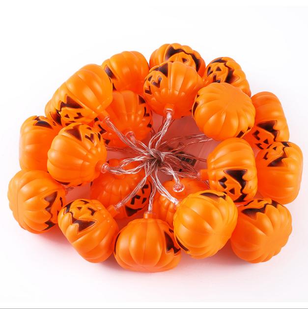 Halloween pumpkin 20 LED 3D outdoor strip string 5 meters lights garden decorative solar light