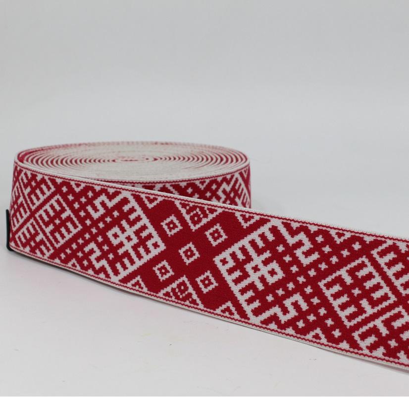 China Factory Print Elastic Band Polyester Elastic Webbing for Garments