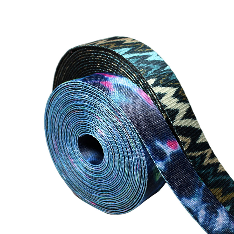 Custom Heat Transfer Printing Sublimation Polyester Elastic Webbing Hot Sale Shoes Garment 100% Polyester Eco-friendly