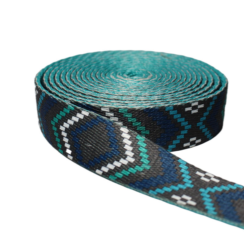 E-co friendly colorful  Manufacturer print elastic webbing band with custom logo for garment accessories