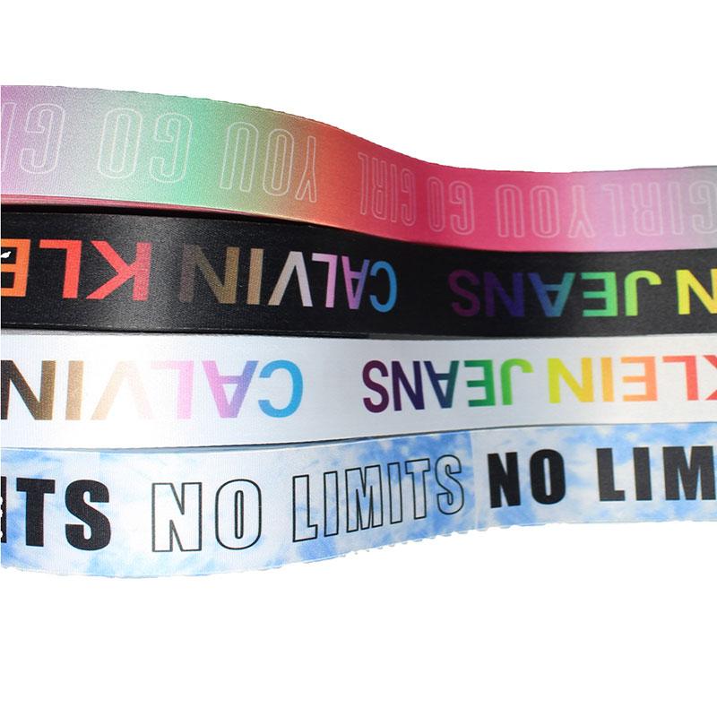 Factory customized high quality polyester silk screen elastic webbing printing elastic band