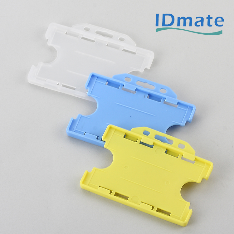 Double Sided Landscape Standard Visible Name Enclosed Tag Holders