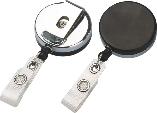 Chrome Plated Extending and Retracting Yoyo Badge Reel Id Card Holder