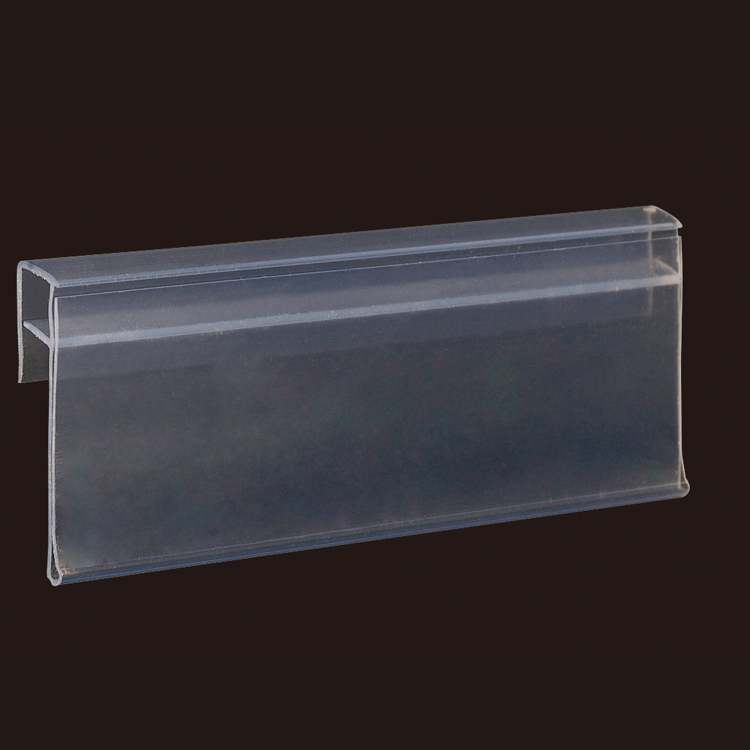 Semi Mounted Chain Stores Exhibition Shelf Attached Data Strips