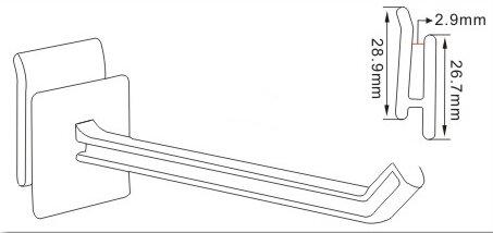 Peg Surface Anti-sagging Grooved Ridged Hooks