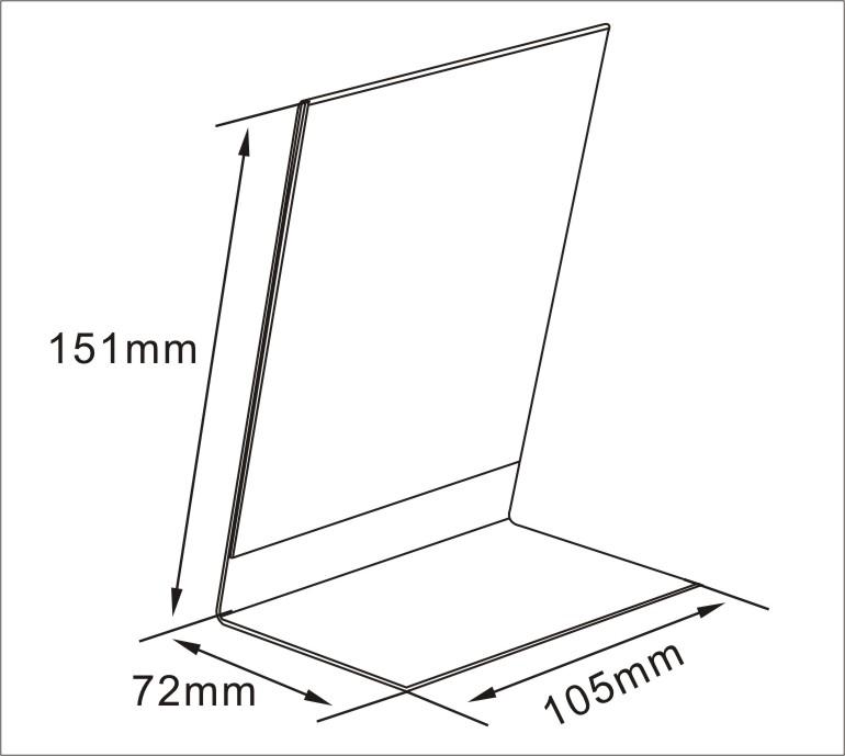 Shelf Talker Holders of Bending A4 Acrylic Poster Holder Wall Mounted Lifter