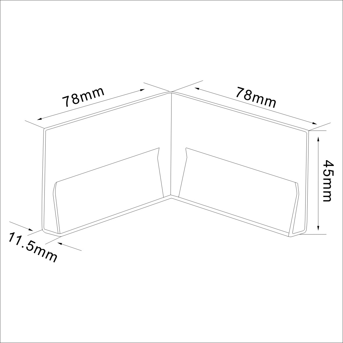 Protective Cornered Paper Crystal Latching Shelf Protagonist
