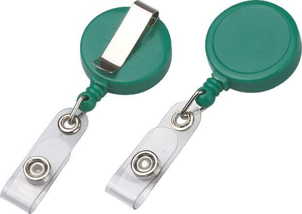 ABS Round Mini Retractable Badge Reel with Sliding Belt Clip