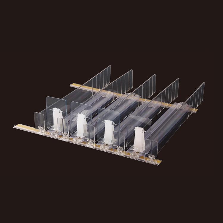 Supermarket Assembly High Turnover Shelf Pusher Mechanism