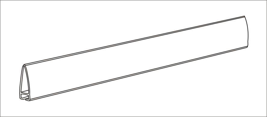 Delta Rails Chain Stores Exhibition Shelf Attached Data Strips