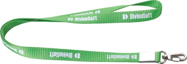 Synthetic Fabric Portable Neck Lanyard With Zinc Alloy Hook