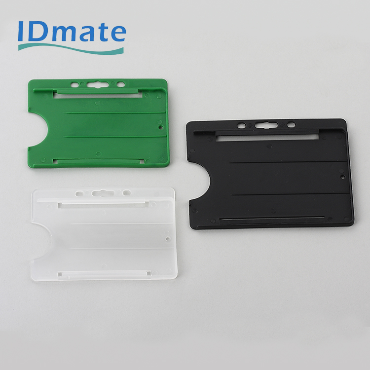 CR-100 Hard Plastic Standard Visible Name Enclosed Tag Holders