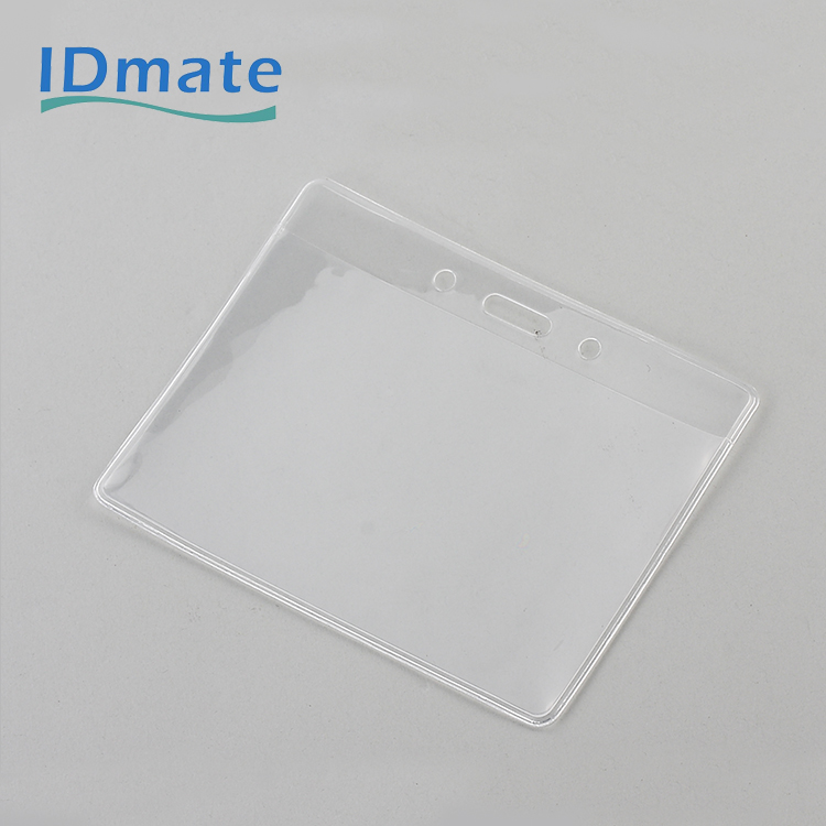 Oriented Pre-punched Bio Non-toxicity Soft Badge Holder