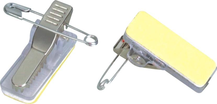 Milk Yellow Versatile Brooch Pin Sensitive ID Badge Clip and Foam Adhesive